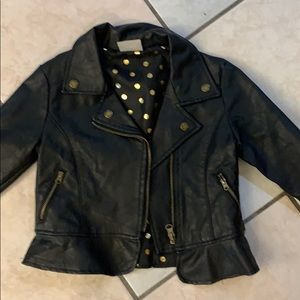 Kids Black Leather Jacket